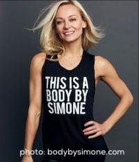 Celebrity trainers Simone De La Rue
