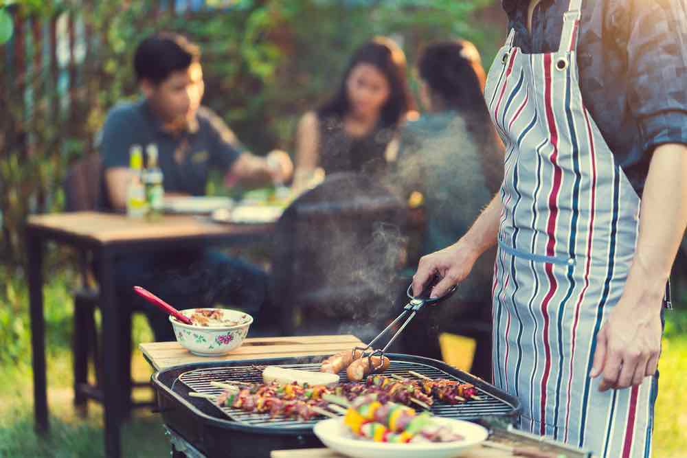 Healthy eating barbecue