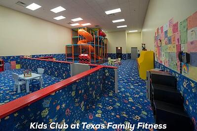 Kids club at the gym text