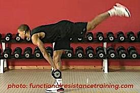 Trainer exercises deadlift
